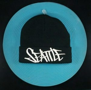 Other - Black Skull Cap Seattle Script NWT